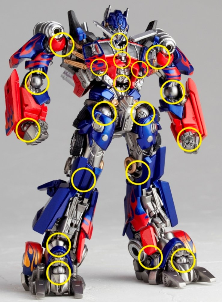 Transformers 3 Dark of the Moon Revoltech SciFi Super Poseable Action Figure Optimus Prime