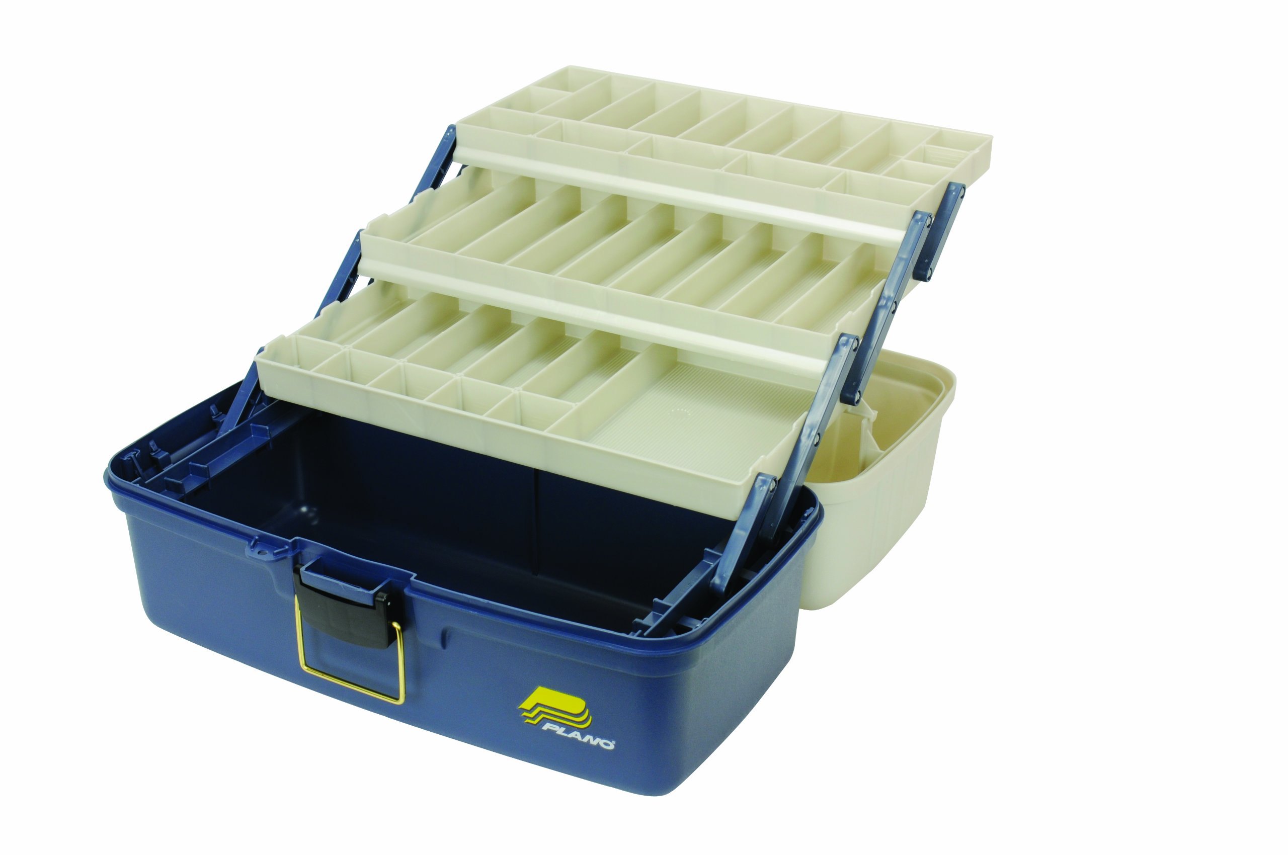 Plano xl 3 tray tackle box with large bulk storage new ebay for Large tackle boxes for fishing