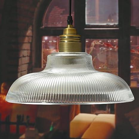 Pegasus E27 Industrial de cobre de vidrio sombreado luz de techo candelabro colgante lámpara de montaje