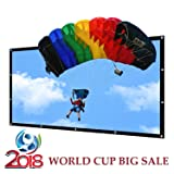 Portable Projector Screen Indoor Outdoor Lightweight Folding Movies Screen Wrinkle Free 120 inch HD Projection Screen 3D Rear Front (Color: 120 inch, Tamaño: 120 inch)