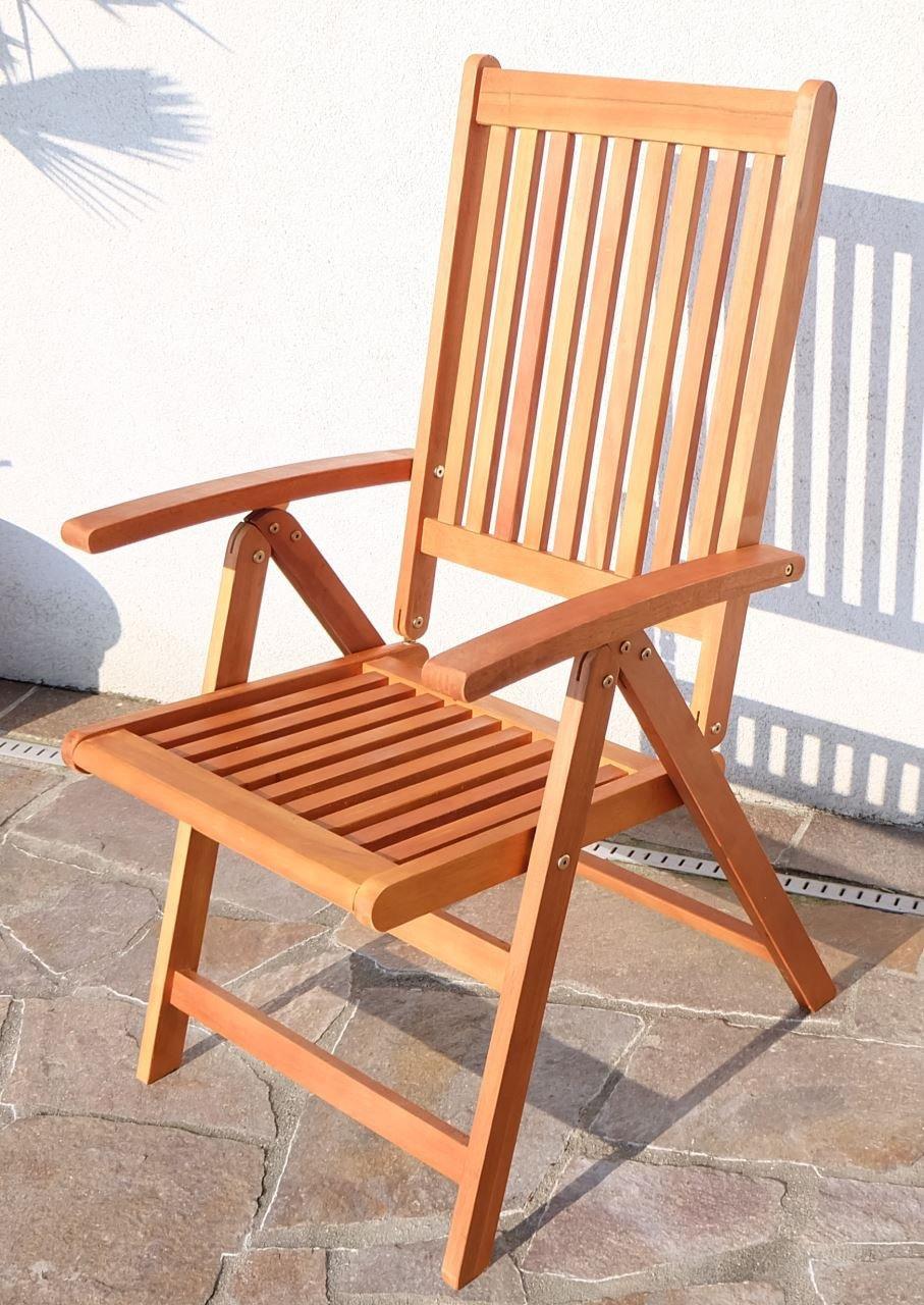 Design Hochlehner Klappstuhl Klappsessel Gartensessel Gartenstuhl Sessel Holzsessel Gartenmöbel 7-fach verstellbar Holz Eukalyptus geölt Modell: 'LIMA' von AS-S günstig kaufen