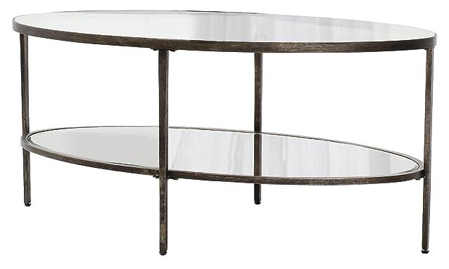 Gallery Direct Hudson - Tavolino da caffè, 112 x 50 x 60 cm, trasparente