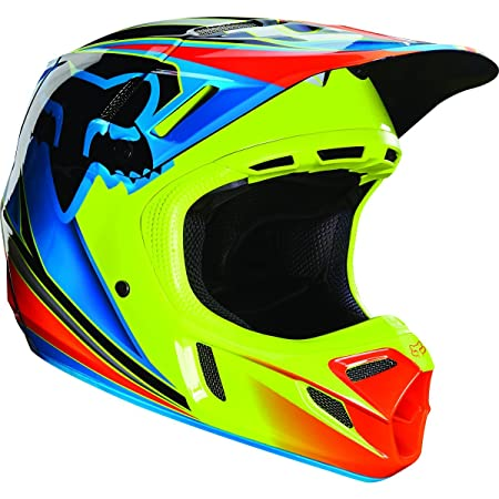 Casque Motocross Fox 2016 V4 Race Bleu-Jaune