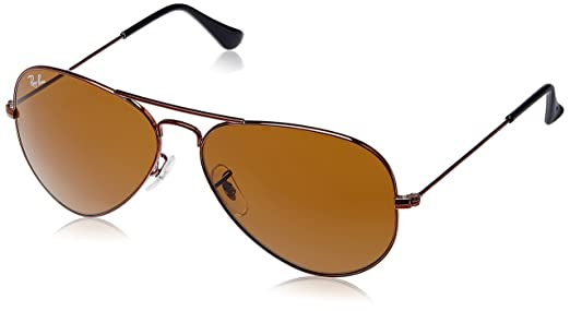 ray ban aviator brown  Ray-Ban Aviator Sunglasses (Brown) (0RB3025IR107258): Amazon.in ...