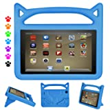 F i r e HD 8 Kids Case, F i r e HD 8 Tablet Case - Auorld Kid-Proof Case with Stand for All New HD 8 Tablet (Compatible with 2018/2017/2016 Release) (Blue) (Color: blue)