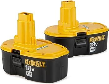2-Pack Dewalt 18V 2.4 Ah Ni-Cd Battery + $53.99 Sears Credit