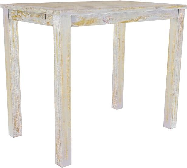 Brasil tavolino 'Rio' 130x 80cm in legno di pino massiccio–shabby chic Honey