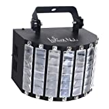 LaluceNatz DJ Lights with 30W Multicolor LED Beams by IR Remote and DMX Control for Disco Club Birthday Party Stage Lighting (Metal Casing) (Color: derby effect light)