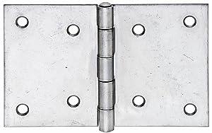 GAHAlberts 361297 Scharnier, breit, mit Edelstahlstift, Edelstahl, 81 x 128 mm / 20 Stück  BaumarktBewertungen und Beschreibung