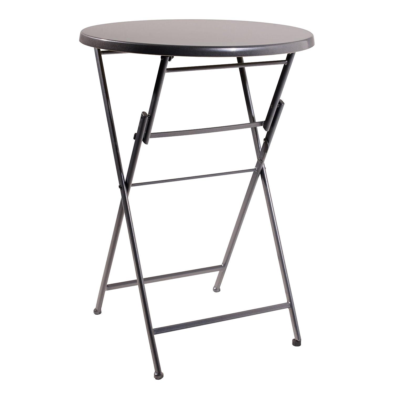 Greemotion Steh-/Klapptisch Premium Top, Grau, ca. Ø 80 Höhe: ca. 110 cm günstig online kaufen