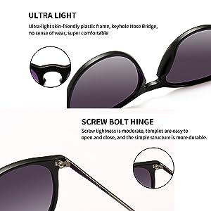 388019e43b3 SUNGAIT Vintage Round Sunglasses for Women Erika Retro Style (Black Frame  Matte Finish Grey Gradient Lens)
