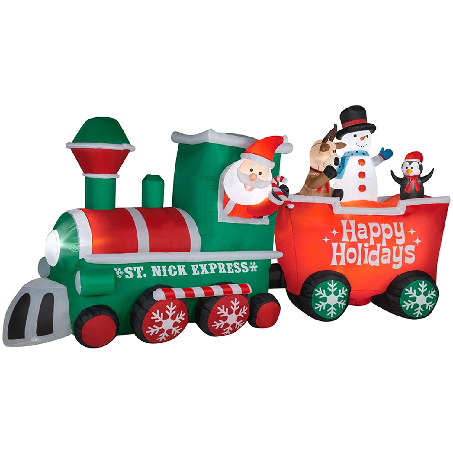 Santa Outdoor Inflatable Trains
