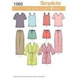 Simplicity 1563 Easy to Sew Teen's, Men's and Women's Pajama Sewing Patterns, Sizes XS-XL (Color: Original Version, Tamaño: Misses Men's Size XS-XL)
