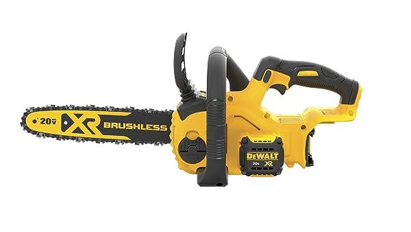 DEWALT DCCS620B 20V MAX XR Compact 12 in. Cordless Chainsaw (Tool Only) (Color: DEWALT DCCS620B 20V Max Compact Cordless Chainsaw Kit Bare Tool with Brushless Motor, Tamaño: 20V)