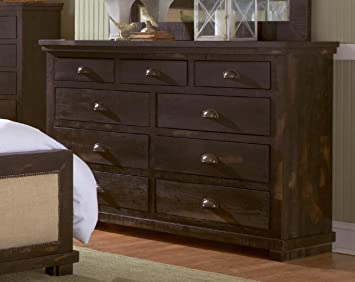 Dresser in Distressed Black Finish