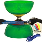 Flight Pro System 5: Triple Bearing Full Sized 5 Chinese Yoyo Diabolo Skill Toy (Color: Green)