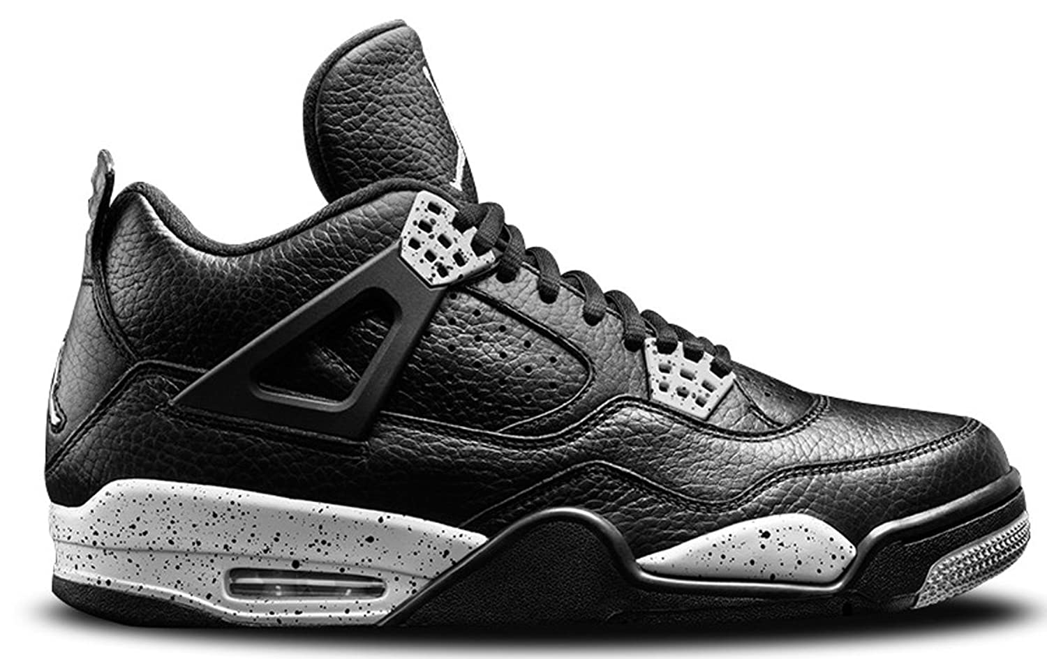 Air Jordan 4 Retro LS Oreo Iv Men Casual Sneakers New Black Tech Grey