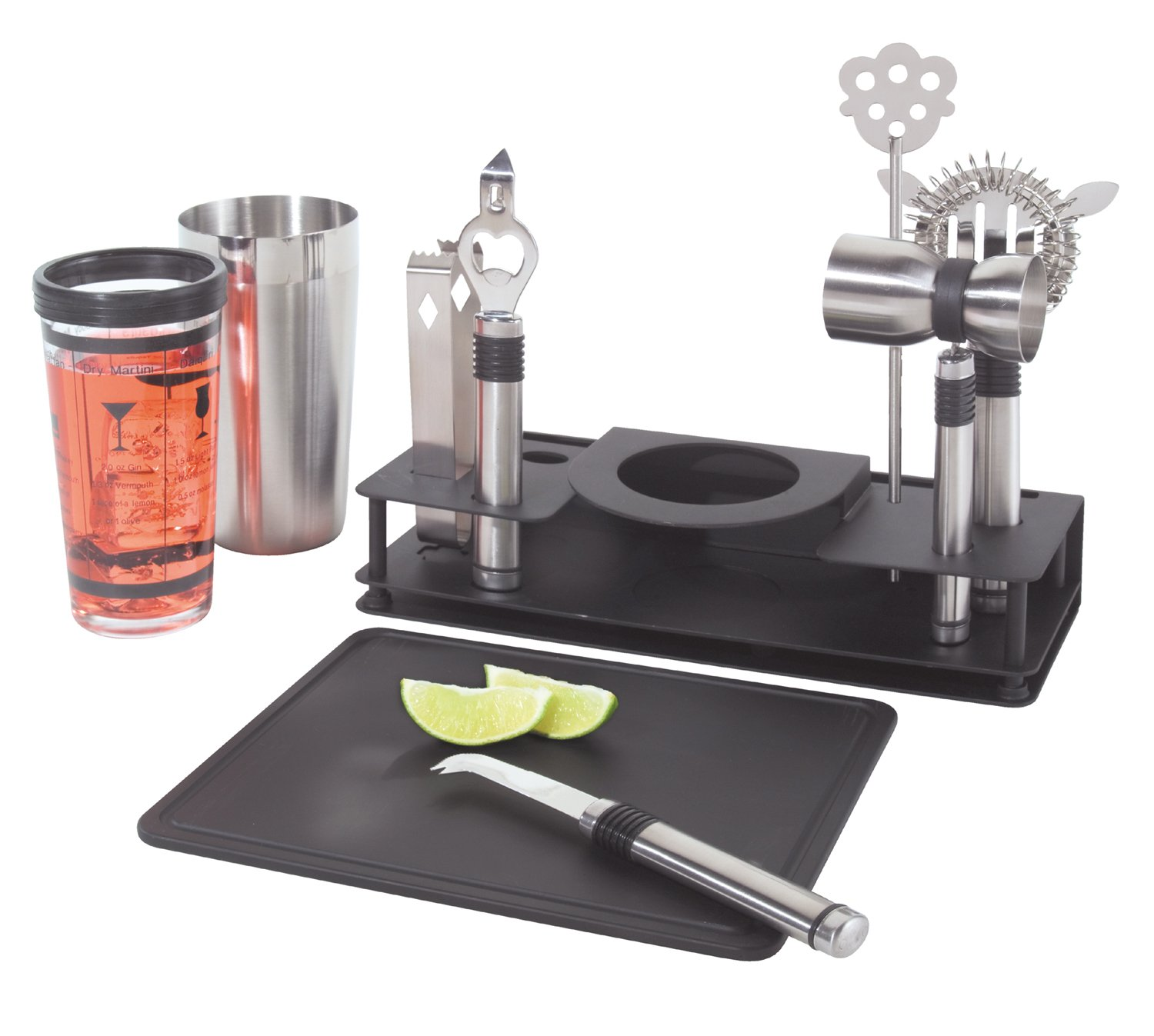 Gift for Dad - Cocktail Shaker and Bar Tool Set
