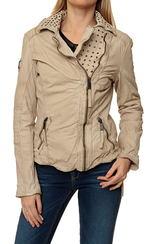 Maze Damen Jacke Lederjacke , Farbe: Beige online bestellen