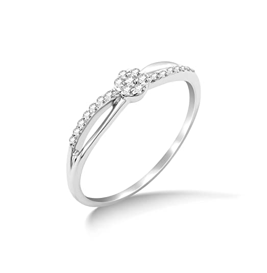 Miore 9ct White Gold Diamond Engagement Ring SA981R