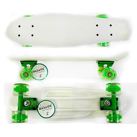 Maxofit ® retro skateboard mini cruiser alaska, 55 cm avec roulements à billes ABEC 9, excellentes finitions