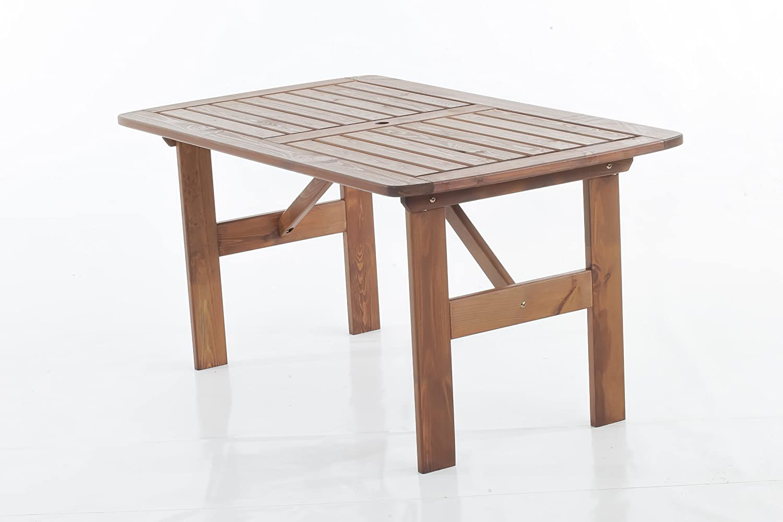 Trendy-Home24 Gartentisch Esstisch Hanko MAXI Sitzgruppe Essgruppe braun ca 140 x 80 cm günstig