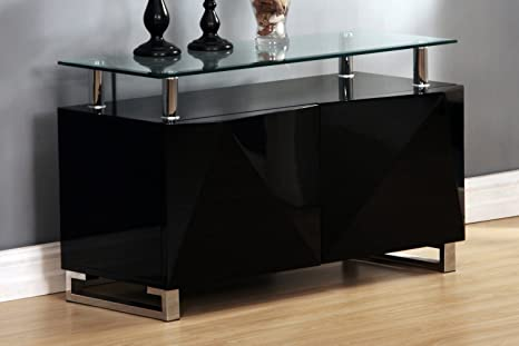 Rowley High Gloss Black 2 Door Sideboard