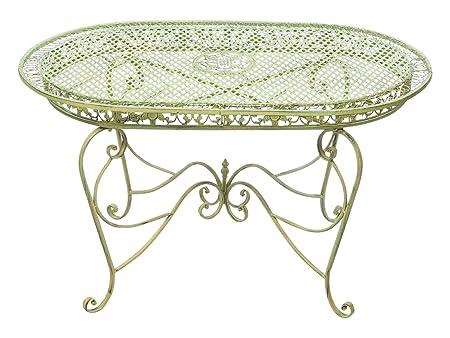 Mesa de jardín 135cm mesa de hierro forjado muebles de jardín de hierro de