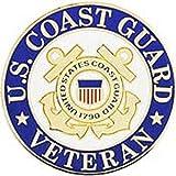 Eagle Emblems P12560 United States Coast Guard USCG Logo, Hat Lapel Pin, One Size, Gold, 1 Piece
