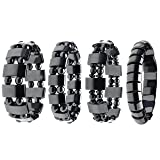 Top Plaza 4pcs/set Men's Women's Hematite Metal Magnetic Therapy Bracelets
