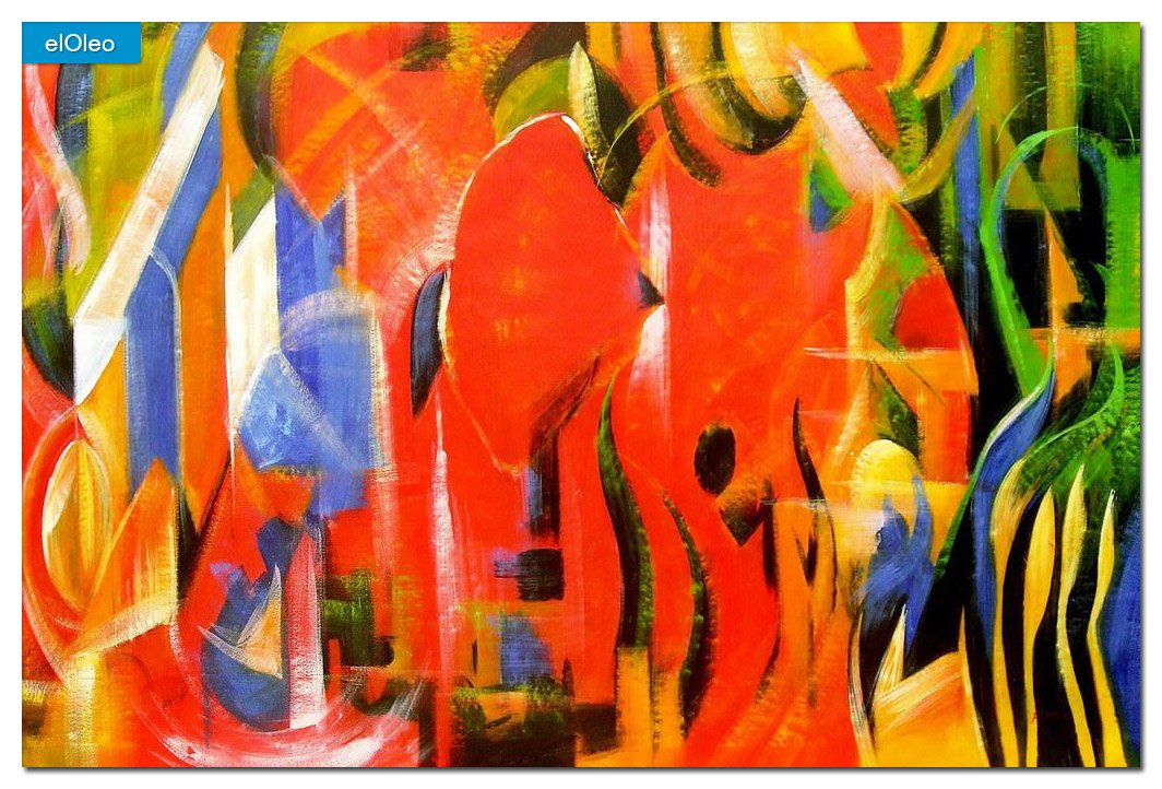 elOleo Franz Marc – Spielende Formen 120×180 Gemälde auf Leinwand handgemalt 83595A jetzt bestellen