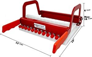 Soap Cutter - Long Loaf - Perfectly Cuts 1 Inch Bars (Color: Red)