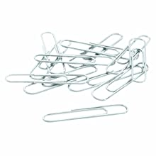 ACCO Economy #1 Paper Clips, Smooth, Size #1, 100 Clips Per Box, 10 Boxes (A7072380)