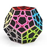 Coogam Zcube Carbon Fiber Megaminx Cube Pentagonal Dodecahedron Speed Cube Puzzle Toy