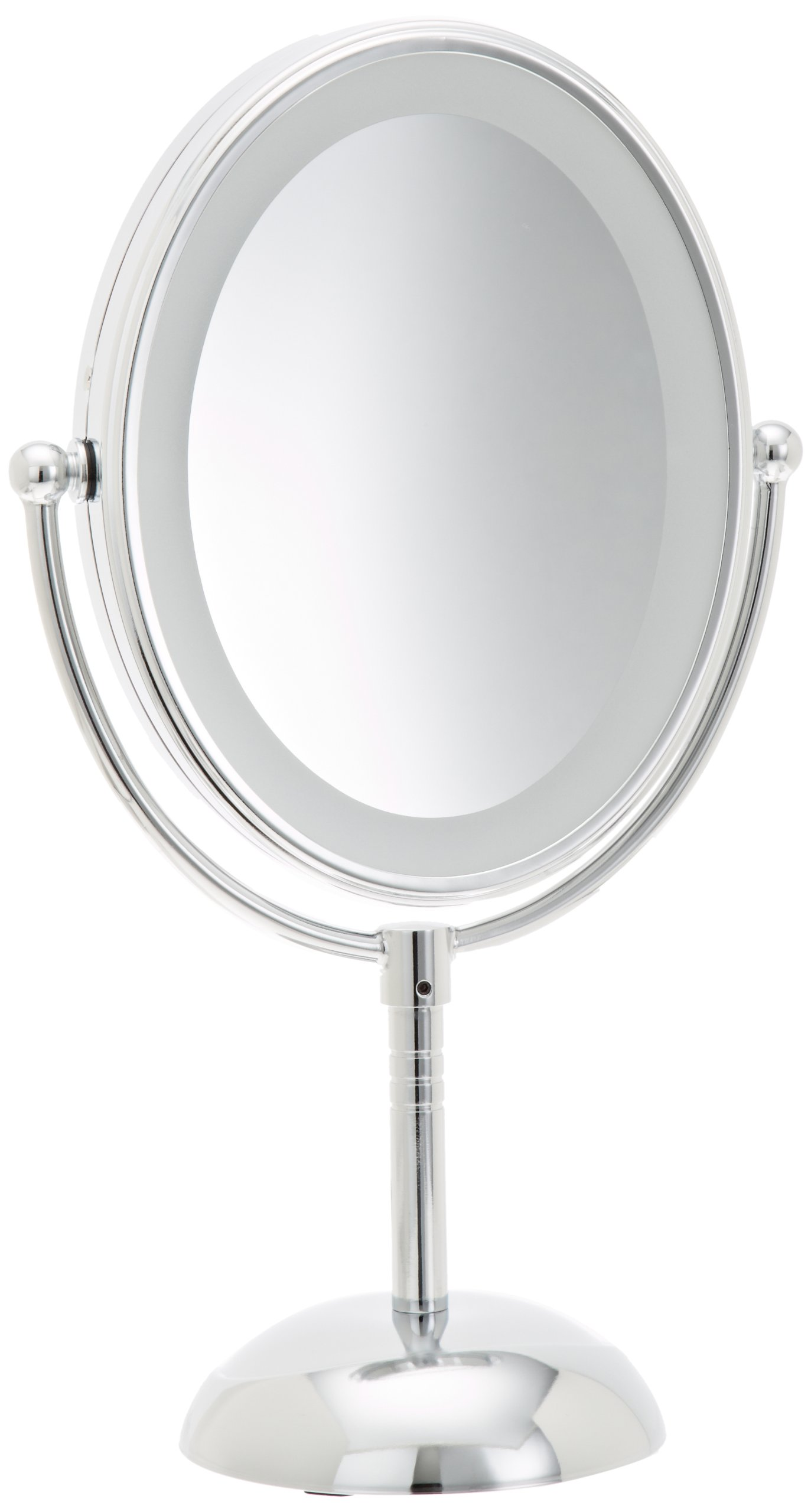 Conair LED Makeup Mirror Reflections Lighted Battery 7x Magnifying Vanity Chrome eBay