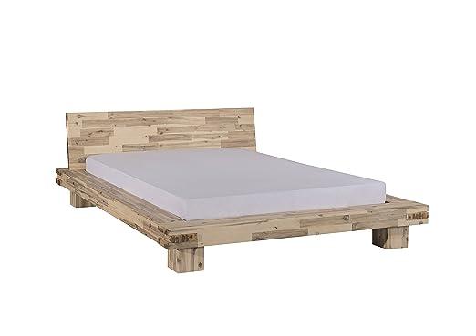Modular lim160.44 Bett, Holz, weiß, 234 x 194 x 72 cm