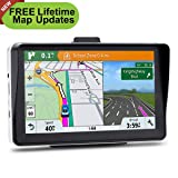 7 inches Car GPS, 8GB Navigation System for Cars Lifetime Map Updates Touch Screen Real Voice Direction (Color: Black)
