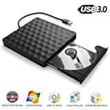 External DVD CD Drive, InThoor USB 3.0 Portable DVD CD Burner/Writer/Rewriter with High Speed Data Transfer for Laptop Desktop Support Windows XP/7/8/10/Vista/Mac OS