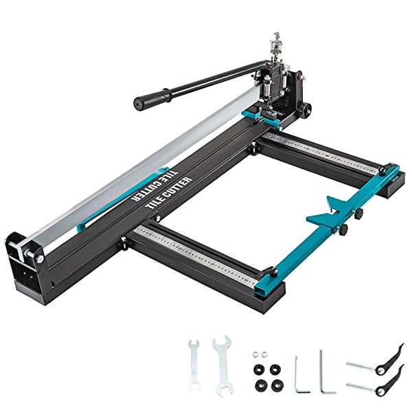 Mophorn 31 Inch Tile Cutter Heavy All-steel Frame Manual Tile Cutter Tools w/Precise Laser Positioning Suitable for Porcelain and Ceramic Floor Tiles (Steel)