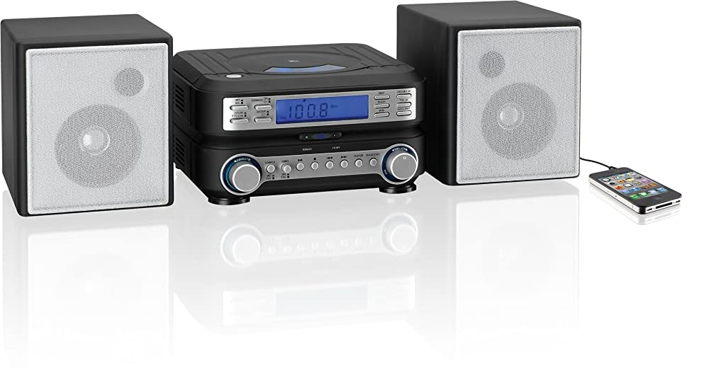 gpx hc221b compact cd player stereo home music system with. Black Bedroom Furniture Sets. Home Design Ideas