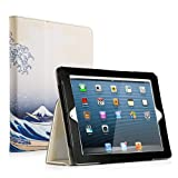 Ruban iPad 2/3/4 Case Release [Corner Protection] - [Scratch-Resistant] and High-Grade PU Leather Folio Stand Smart Cover, Auto Wake/Sleep for Apple iPad 2th/3th/4th Gen with Retina Display, Sea Wave (Color: Sea Wave, Tamaño: iPad 2/3/4)