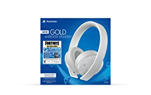 PlayStation Gold Wireless Headset Fortnite White - PlayStation 4 (Color: Fortnite White)