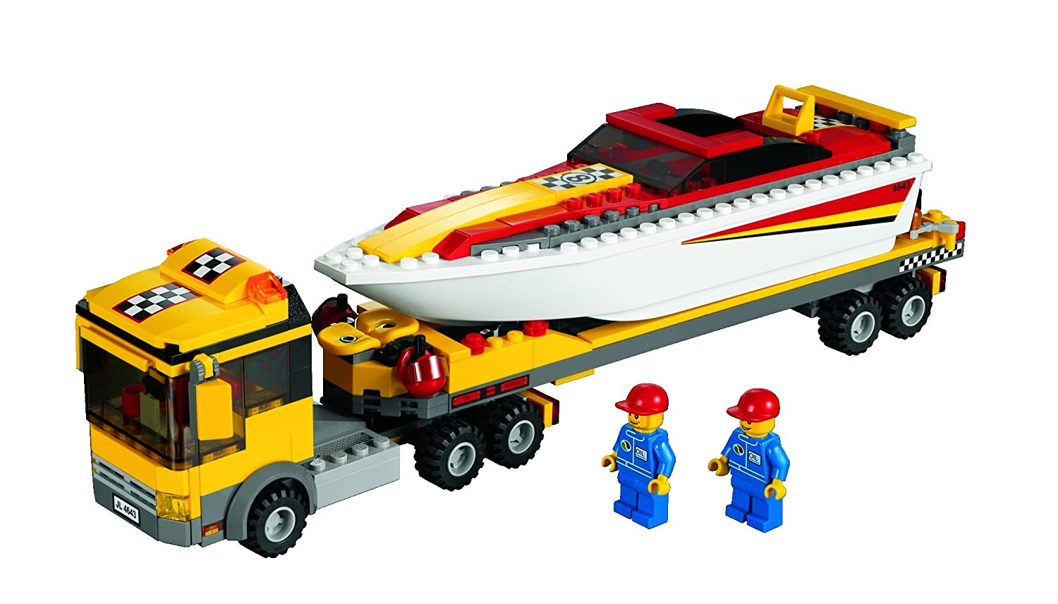 buy lego city power boat transporter online at low prices in india amazonin