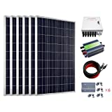 ECO-WORTHY 600W Solar Power System Off Grid: 6pcs 100W Polycrystalline Solar Panel + 30A PWM Charge Controller + Combiner Box + Solar Cable + Z Mounting Brackets (Color: w/ Combiner Box, Tamaño: 600W)