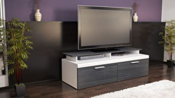 meuble tv bas atlanta atlanta en blanc mat. Black Bedroom Furniture Sets. Home Design Ideas
