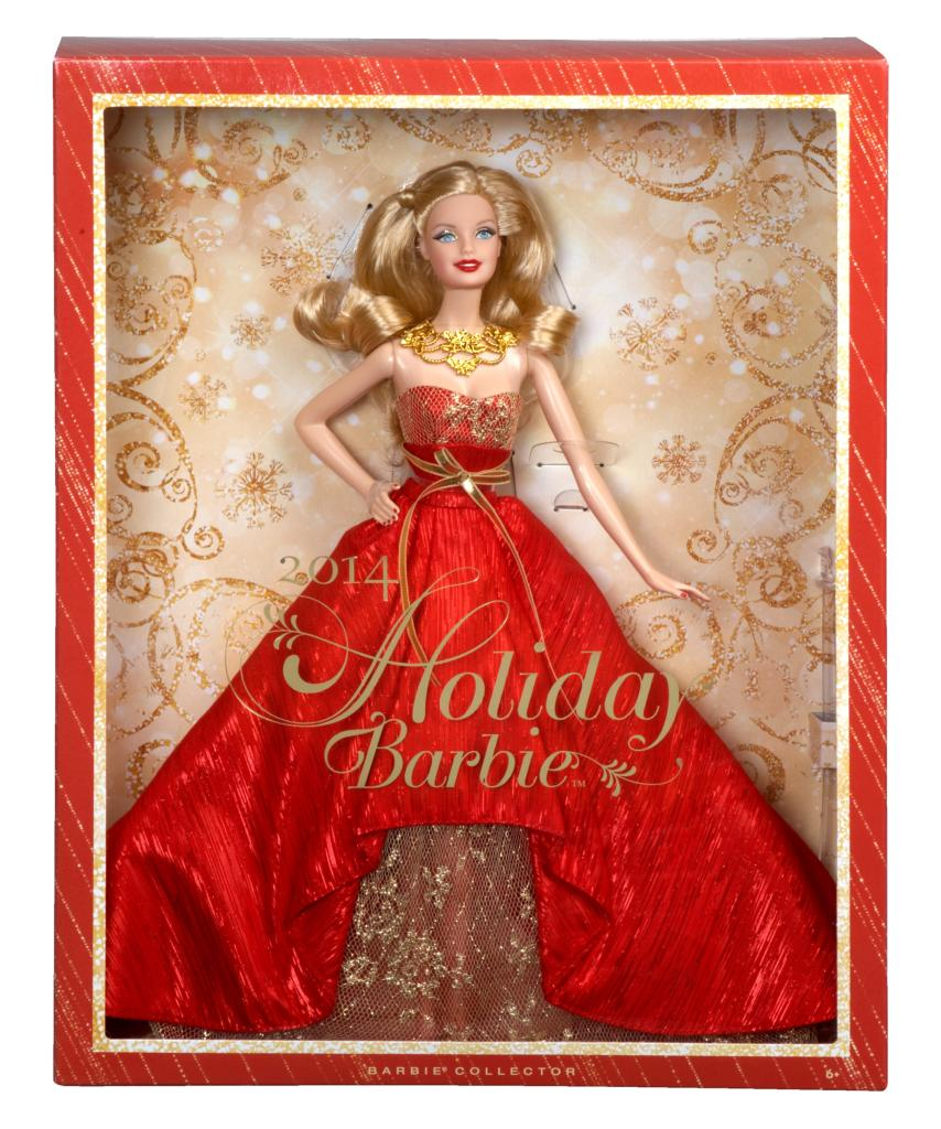 "Say, ""Happy Holidays!"" with Barbie in her gorgeous dress!"