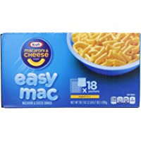 18-Count Kraft Easy Mac Original Macaroni and Cheese Microwaveable Single Serve Packs