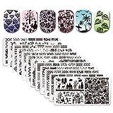 Born Pretty 12Pcs Nail Art Stamp Stamping Template Christmas Snowflake Image Plates DIY Nail Art (Color: 19377)