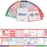 Scrubcheats 56 Heavy Duty Laminated Nursing Reference Cards by NRSNG (4X6 Fits in Scrub Pocket) (MedSurg, Critical Care, Pharmacology, OB/Peds, Respiratory, Cardiac) WATERPROOF, SPLASH PROOF