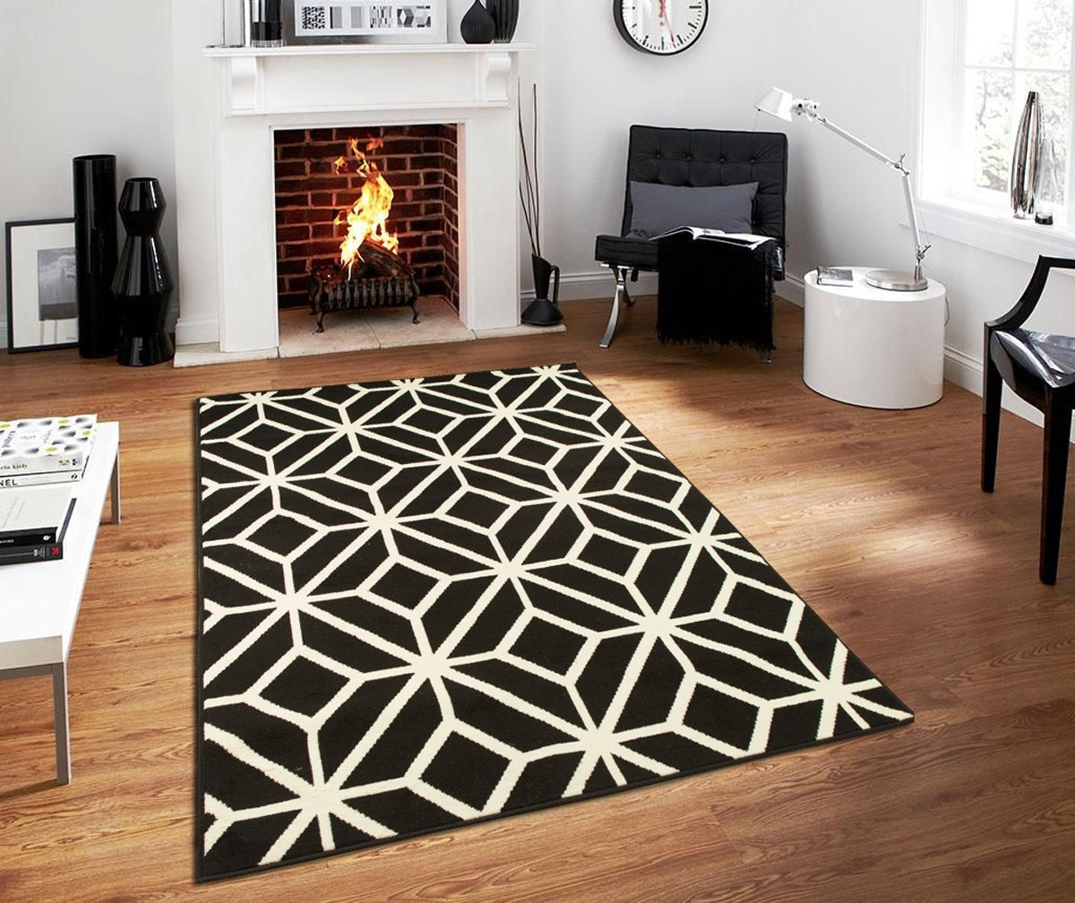 Contemporary rugs for living room modern rugs 5x7 black - Living room area rugs contemporary ...